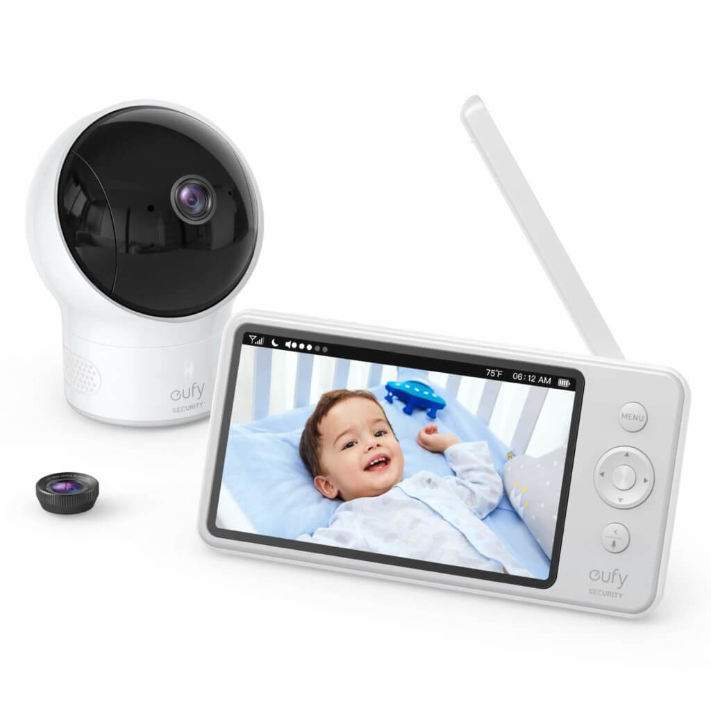 Eufy security video baby monitor with camera and audio
