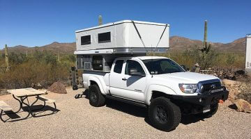 Toyota Tacoma Camper Shell Rooftop Tent